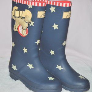 Joules Welly Print kids rain Boots knee-height